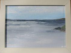 Sea Shades Original Oil on canvas , The Irish Sea at Portrane, Dublin before the rain. By Marie Armstrong OLeary MAOL Art inches Framed, signed and ready to hang Plein Air Painting Irish Sea, Oil Paintings, Oil On Canvas, Shades, The Originals, Etsy, Art, Art Background, Kunst
