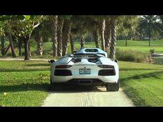 Following 2 Lamborghini Aventador to Miami Beach Concours Supercar Exoti...