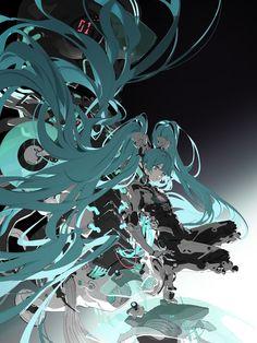 Drawings of Savage Pigtails - Dynamic Hair☆ Vocaloid, Arte Cyberpunk, Futuristic Art, Anime Artwork, Anime Art Girl, Manga Girl, Anime Girls, Character Design Inspiration, Animes Wallpapers
