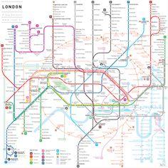 Simplified subway map by Jug Cerovic - London