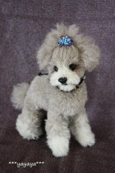 needle felt Poodle by yayaya