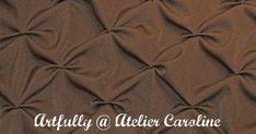 Artfully Caroline: Tutorial - Deco honeycomb tucks