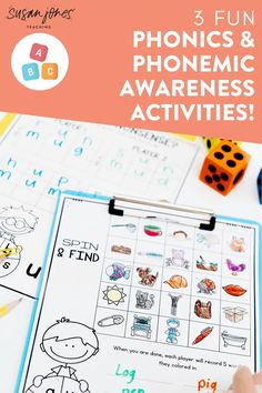 Looking for some FUN phonics and phonemic awareness activities for a kindergarten, first, or second grade classroom?! In this blog post, I share 3 engaging activities - some for phonemic awareness and others for phonics to get students ready to read! These phonics games are a whole lot of fun and you can try a FREE one over in the post!