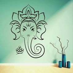 HINDU GOD GANESHA ~ Elephant Wall Art Decal