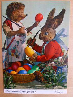 Postkarte AK Mecki * Ostern * Nr.321 Herzliche Ostergrüße | eBay