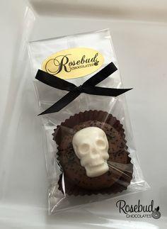 Chocolate Skull Oreo Cookie Favors...Skeleton, Bones, Skulls, Candy, Birthday, Halloween www.rosebudchocolates.com