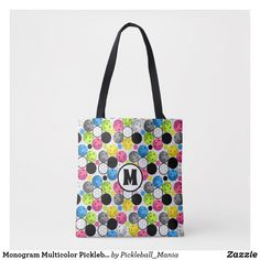 Monogram Multicolor Pickleball Tote Bag