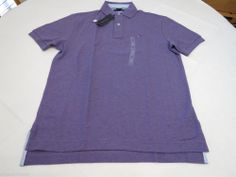 Men's Tommy Hilfiger Polo shirt NWT S solid NEW 7845163 Ultra Violet Heather 564 #TommyHilfiger #polo