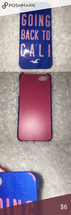 Hollister IPhone 5/5s case Hollister. Hard case. Fits IPhone 5/5s. Small scratches only Hollister Accessories Phone Cases