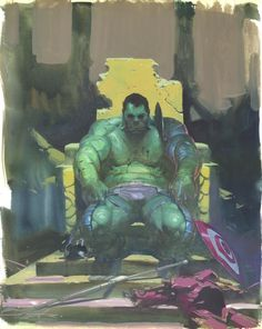 Geek-Art.net, fuckyeahesadribic:   The Hulk by Esad Ribic