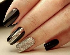 Best Nail Designs of Great ready to book your next manicure, because this nail inspo is going to make you want a new paint job stat. Check out the cutest, quirkiest, and most unique nail designs your favorite celebs can't stop wearing. Tape Nail Designs, Black Nail Designs, Winter Nail Designs, Cool Nail Designs, Fall Gel Nails, New Year's Nails, Winter Nails, Fun Nails, Autumn Nails