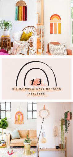 13 DIY Rainbow Wall Hangings to Make this Weekend | Fall For DIY