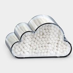 A container to keep your cotton swabs fresh and fluffy as miniature clouds.