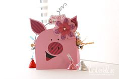 Adorable Piggy Box by DT Member KimberlyRae using Crazy For You Bundle by We R Memory Keepers found at fotobella.com