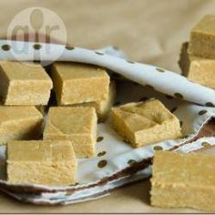 Brazilian Peanut Squares. Rich tea biscuits are commonly vegan, and you can now get condensed soya milk.