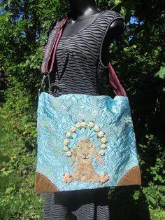 Commuter Bag, Carpet Bag, Folk Embroidery, Vintage Fabrics, Inventions, Sheep, Goats, Etsy, Fashion