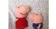 Peppa y George Pig Amigurumi - Patrón Gratis en Español
