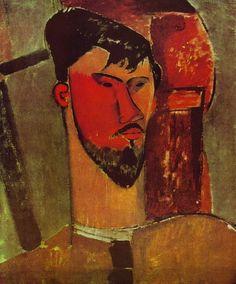 Amedeo Modigliani (Italian:1884-1920), Portrait of Henri Laurens, 1915. Oil on canvas.