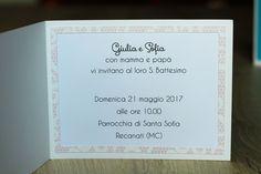 Biglietto nascita o battesimo, interno