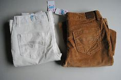 Starting Bid $19.99 #ebay #shopping Justice Size 14 1/2 Off White Jeans & Brown Jeans New with Tags Free Shipping