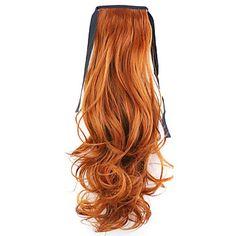 rouge usine de 50cm de longueur vente directe de type bind prêle friser les cheveux queue de cheval (couleur 119) - EUR € 4.89