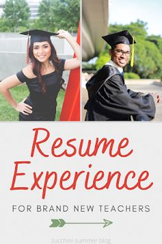 Resume tips for new college graduates with teaching degrees Teaching Jobs, Student Teaching, 7th Grade Social Studies, Resume No Experience, New College, Learning Time, First Job, Reading Intervention, Resume Tips