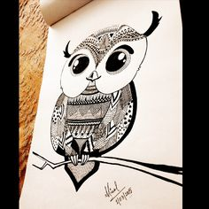 owl doodling by 31mini