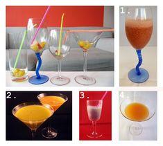 Hier gibt es ein paar Anregungen für alkoholfreie Cocktails. Ganz einfach um am besten mit frischem Obst oder mit Säften, Milch, Buttermilch