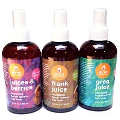 """""""The Juices"""" Nourishing Herbal Leave-ins - 8oz - refresh - shop by need - hair Oyin Handmade  I use the juices and berries and it's hard not to drink this stuff. It smells so yummy and really moisturizes my thirsty hair."""