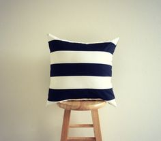Black and White Stripe Pillow - Handmade Pillow - Black and White Pillow - Geometric Electric Decorative Pillow Cover