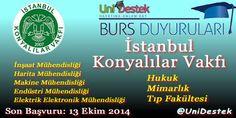 İstanbul Konyalılar Vakfı 2015 #Burs Başvurları Başladı.  http://unidestek.net/istanbul-konyalilar-vakfi-2015-burs-basvurlari/