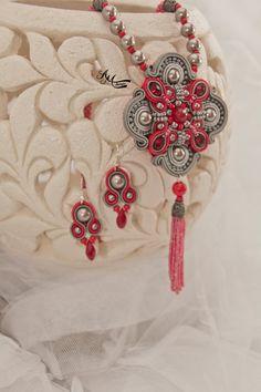 Soutache necklace. Soutache set by AMdesignSoutache on Etsy