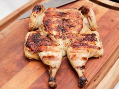 Tangerine Chicken Under a Brick recipe from Life's a Party with David Burtka via Food Network Tangerine Chicken, Tangerine Juice, Grilling Recipes, Cooking Recipes, Paleo Recipes, Paleo Meals, Turkey Recipes, Chicken Recipes, Gourmet