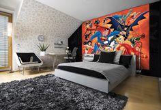 fototapeta hawaje widok przez marvel mural comics dc powiększyć aby kliknij bedroom fotobehangart tapeciarz