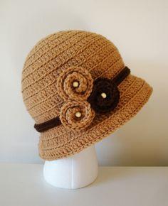 Crochet Bucket Hat Lady Cloche in Topaz by DaisyEzyCraft on Etsy www.etsy.com
