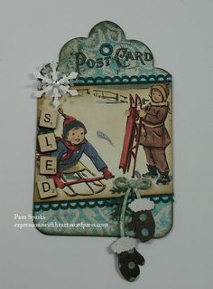 Christmas tag by regina