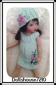 "Hand Knitted outfit for 7.5-8"" Kish Riley Helen Kish,Tonner BJD 