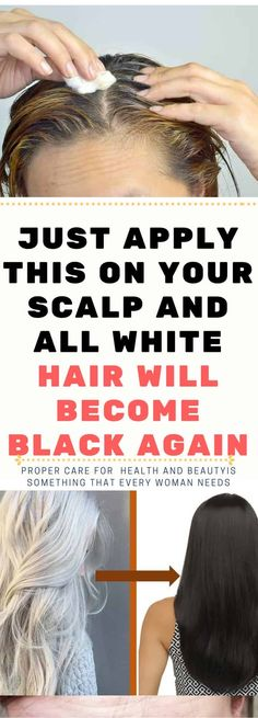 As we age, it is not uncommon for us to find white hairs on our head. As time passes, the hair gets whiter and whiter, but sometimes, gray or white hair can appear on your hair even when you're young. Simply APPLY THIS ON YOUR SCALP AND ALL WHITE HAIR WILL BECOME BLACK AGAIN Individuals, …