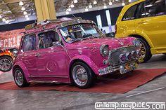 Pink 1971 Mini Coope