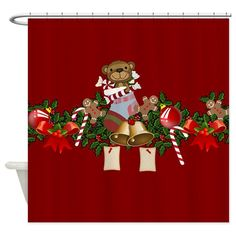 Shop unique Shower Curtains from CafePress. Great designs on professionally printed shower curtains. Holiday Shower Curtains, Special Day, Christmas Decorations, Halloween, Design, Christmas Decor, Christmas Tables, Spooky Halloween