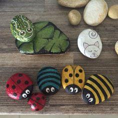 Painted rocks 🐸🐱🐞🐝 Painted Rocks, Coasters, Anna, Painting, Rocks, Painting On Stones, Coaster, Painting Art, Painted Pebbles