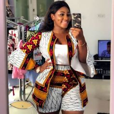 Latest collection of the best and trendy ankara jackets and ankara blazers styles there are out there. DO you love ankara blazers and jackets styles. African Print Dresses, African Fashion Dresses, African Attire, African Wear, African Dress, African Outfits, African Style, Fashion Outfits, Ankara Fashion