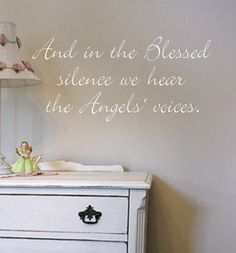 Angel Voices Nursery Vinyl Wall Quote Lettering by landbgraphics, $18.99