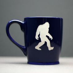 Bigfoot sandblasted Ceramic Coffee Mug bigfoot by GlassBlastedArt, $20.00