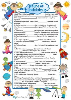 Gerunds and Infinitives with KEY