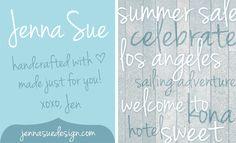 Jenna Sue Schriftart | dafont.com