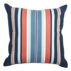 Shop Allen + Roth Tick Stripe Outdoor Throw Pillow At Loweu0027s Canada. Find  Our Selection