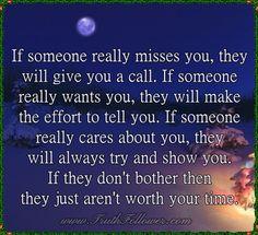 If someone really misses you,