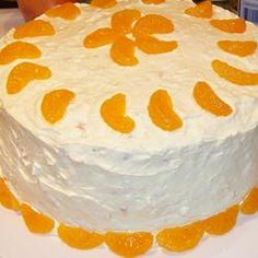 Orange Sunshine Cake ~  This is an awesome cake.  I've made it, and it always turns out so moist and delicious.