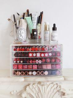 KATE LA VIE | Make-up | Pinterest | Kate la vie Makeup storage and Storage & Makeup Storage Tips u0026 Tricks. - KATE LA VIE | Make-up | Pinterest ...